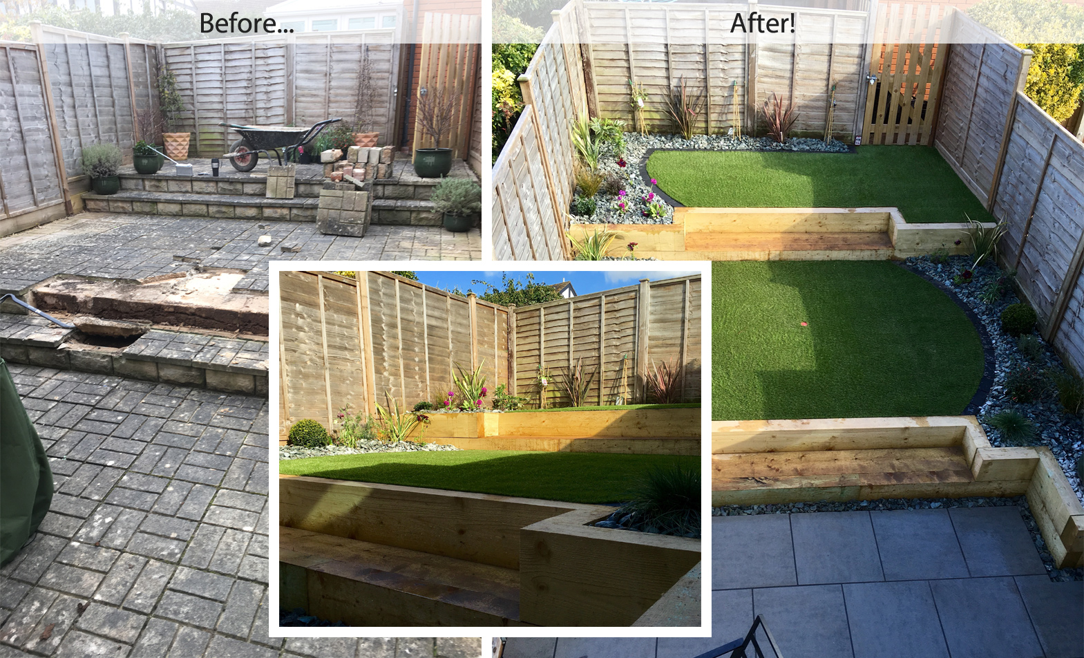 Town garden redesign case study cm artificial grass for Garden redesign